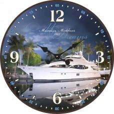 """Настенные часы """"Яхта 1"""" диаметр 470 мм"""