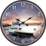 """Настенные часы """"Яхта 2"""" диаметр 470 мм"""