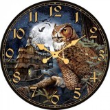 """Настенные часы """"Филин"""" диаметр 320 мм"""