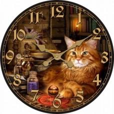 "Настенные часы ""Кот 2"" диаметр 320 мм"