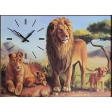"""Настенные часы """"Львы"""""""