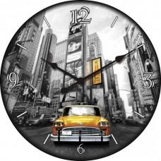 """Настенные часы """"Такси"""" диаметр 470 мм"""