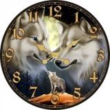 """Настенные часы """"Волки"""" диаметр 320 мм"""