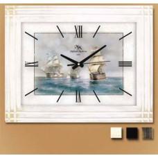 Настенные часы со стеклом КМП Корабли