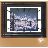 Настенные часы со стеклом КМС Мост
